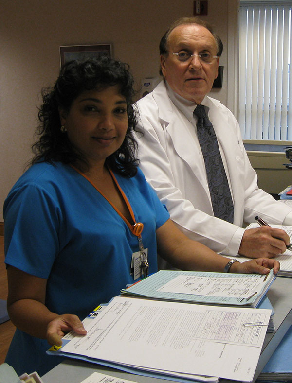 Dr. Jellinger and his medical assistant Farah